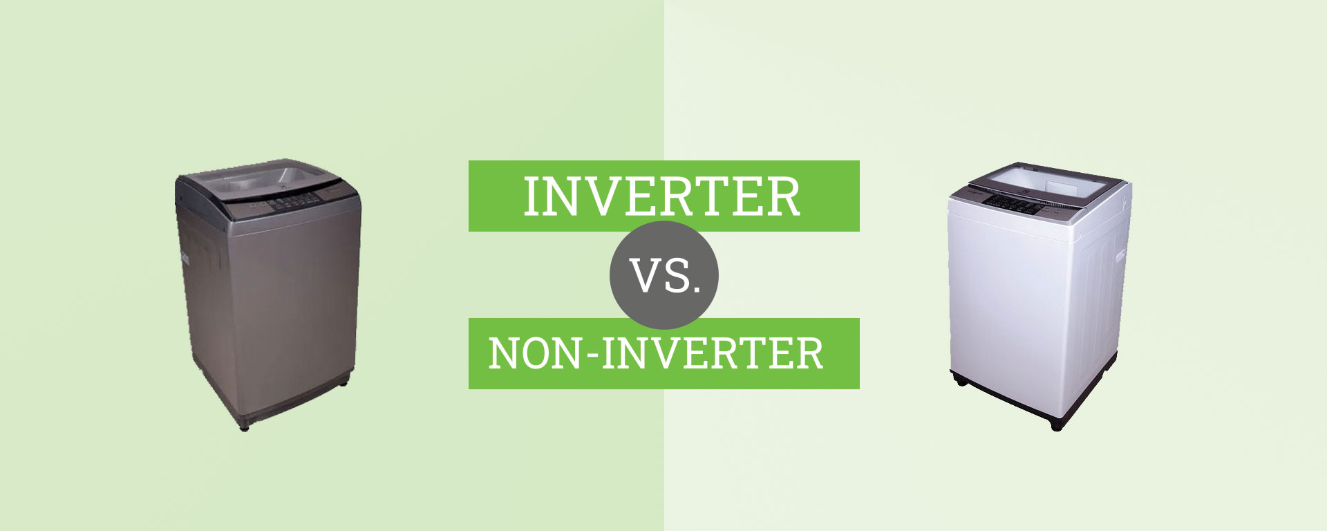 inverter vs. non-inverter washing machine