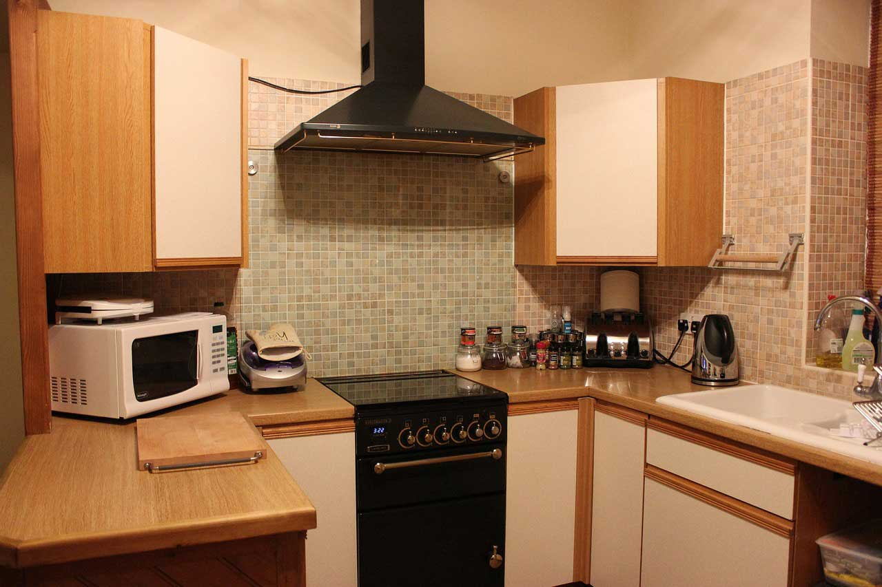 cooker with microwave oven